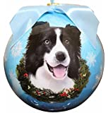 """""""Border Collie Christmas Ornament"""" Shatter Proof Ball Easy To Personalize A Perfect Gift For Border Collie Lovers"""