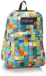 JanSport Superbreak Backpack, Blue/Multi Pop Block