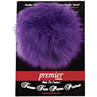 Premier Yarns Faux Fur Pom Pom Yarn, Violet