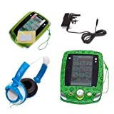 Ultimate Addons UK Boys Starter Case Bundle for LeapFrog LeapPad 2, including case, mains adapter, headphones and screen protectors