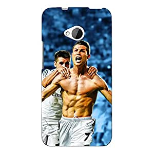 Jugaaduu Cristiano Ronaldo Real Madrid Back Cover Case For HTC One M7
