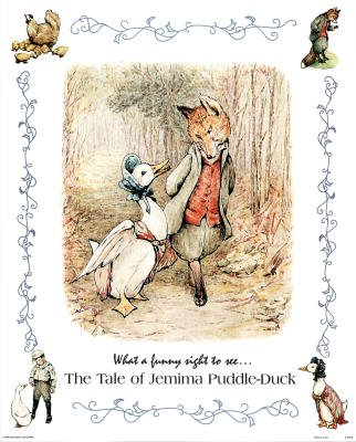 Beatrix Potter Jemima Puddle-Duck Art Print POSTER Fox - 11x17