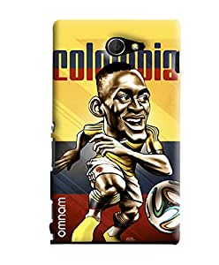 Omnam Colombia Football Cartoon Designer Back Cover Case For Sony Xperia M2