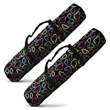 Red Gecko Fitness Yoga & Fitness Mat Bag w/ Straps, Black - 2 Pack/Black
