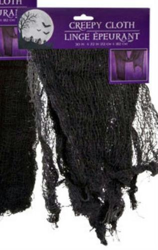 "1 X Gray 30"" X 72"" Creepy Cloth Scary Spooky Halloween Decoration (Pack of 2) - 1"