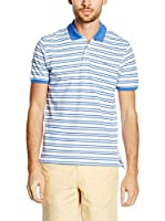 Pedro del Hierro Polo Light Weight (Azul / Blanco)