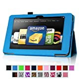 "Fintie (Blue) Slim Fit Leather Case Cover Auto Sleep/Wake for Kindle Fire HD 8.9"" Inch Tablet- 8 colors options"