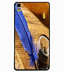ColourCraft Lovely Feather Design Back Case Cover for LENOVO K3 NOTE
