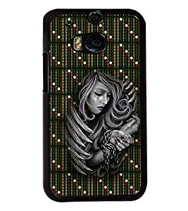 PrintVisa Metal Printed Girly Designer Back Case Cover for HTC One M8/ M8s-D4668