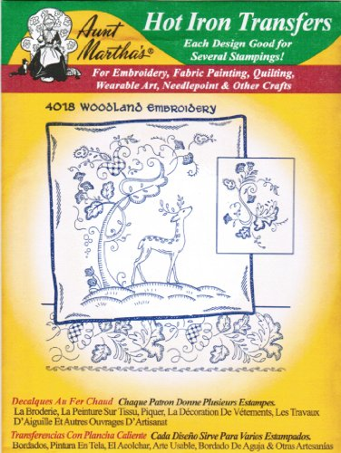 Woodland Scene Aunt Martha'S Hot Iron Embroidery front-87825