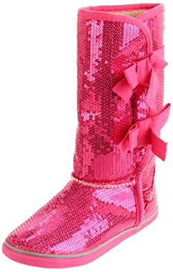 Sugar L'Moragami Pull-On Boot (Little Kid/Big Kid),Pink Sequin,12 M US Little Kid