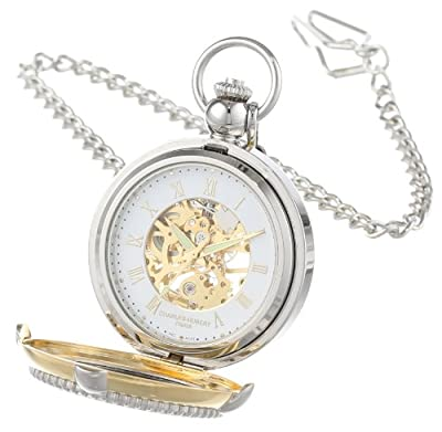Charles Hubert Pocket Watch 3846 Two Tone Picture Stand Hunter