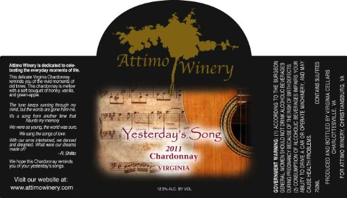Nv Attimo Yesterday'S Song Chardonnay 750 Ml