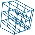 Bel-Art Scienceware 187882000 Steel Poxygrid Half Size Wire Test Tube Rack for 18-20mm Tube, 20 Place, Orange