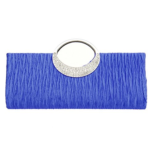 Fashion-Road-Womens-Luxury-Evening-Wedding-Party-Purse-Clutch-Rhinestone-Satin-Pleated-Handbag-Wallet