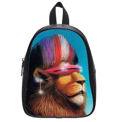 """New Arrival--Superb Hipster Lion Cute 4.5"""" 9.75"""" 12.5"""" School Bag Bookbag Backpack (Medium) front-205376"""