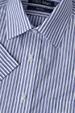 Ultimate Non-Iron Cotton Rich Short Sleeve Shadow Striped Shirt [T11-7339-S]