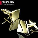 Big Moments 18K Gold Plated Multidimension The Spatiotemporal Gold Cufflinks French Cufflinks Shirt Sleeve Cufflink