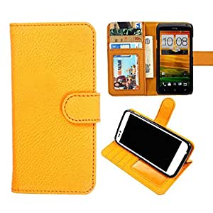 DooDa PU Leather Wallet Flip Case Cover With Card & ID Slots & Magnetic Closure For Karbonn A35