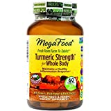 MegaFood Turmeric Strength For Whole Body Tablets, 60 Count (Premium Packaging)