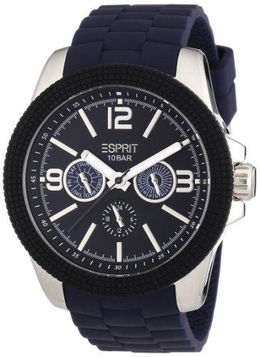Esprit 304 STAINLESS STEEL A.ES105831003 - Reloj analógico de cuarzo para hombre, correa de plástico color azul