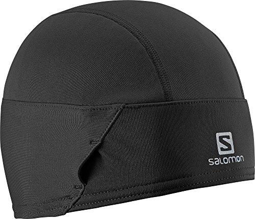 Salomon L35304900 Cappello Unisex Multisport, Antivento sulla fronte, Indossabile con gli occhiali, Riflettente, Momentum Beanie, Nero