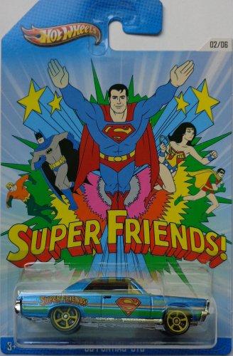 Hot Wheels 2013 Kroger Exclusive Superman Super Friends '65 Pontiac GTO Blue #02/06 - 1
