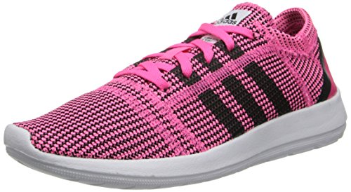 Adidas Originals Women's Element Refine Neon Pink/Running White/Black Sneaker 8.5 B (M)