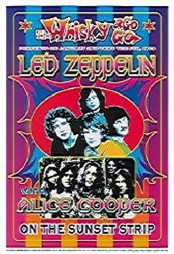 Led Zeppelin, Alice Cooper Poster By Dennis Loren (13.50 X 19.75)