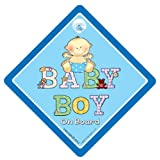Baby On Board, Baby On Board, Baby Boy On Board, Car Sign, Patchwork Blue, Baby Boy on Board Sign, Baby on Board, Baby Sign, Baby Car Sign, Grandchild On Board, Grandson On Board, Bumper Sticker, Decalby iwantthatsign.com