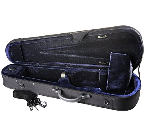ADM 4/4 Full Size Basic Professional Triangular Shape Super Light Suspension Violin Hard Case