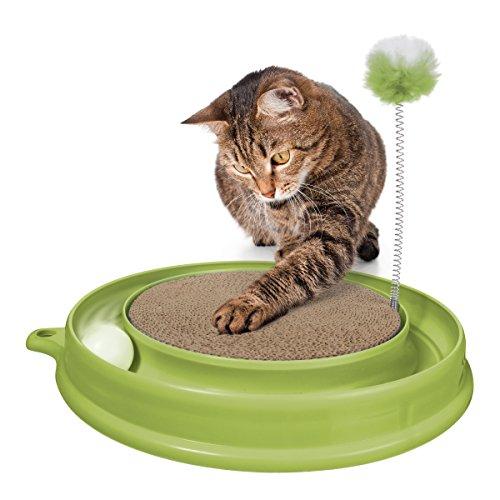 catit-51096-Katzenspielzeug-Play-n-Scratch-mit-Katzenminze-grn