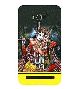 Radha Krishna Cute Fashion 3D Hard Polycarbonate Designer Back Case Cover for Asus Zenfone Go ZC500TG (5 Inches)