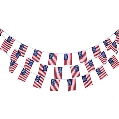 fahnenkette flaggenkette girlande fahnen flaggen girlande wimpelkette amerikanische s. Black Bedroom Furniture Sets. Home Design Ideas