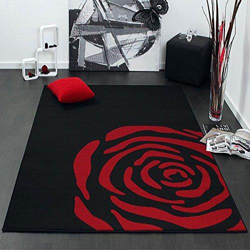 Tappeto Rose, nero, 160x225cm