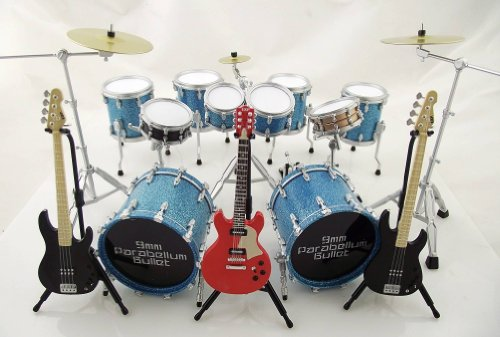 9Mm Drums, Bass, Electric Guitar Parabellum Bullet Band Set Collection New In Box Cj301