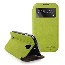 [Lime] Tridea [Samsung Galaxy S4 IV S IV i9500] 100% Italian Standing View Cover S View Folio Premium Case for S4 i9500