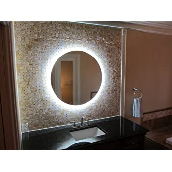 Round Bathroom Mirrors - Commercial grade bathroom mirrors