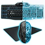Logitech G Series Gaming Keyboard Mouse and Mouse Pad
