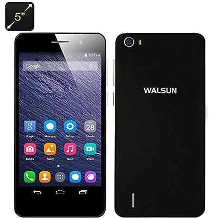 Walsun X6 - Smartphone Android 4.4 / Écran 5 pouces IPS OGS / CPU Quad Core / 1Go de RAM / 8Go de mémoire / Dual SIM / Noir