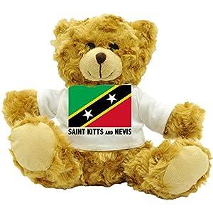 Saint Kitts And Nevis National Flag - Plush Teddy Bear