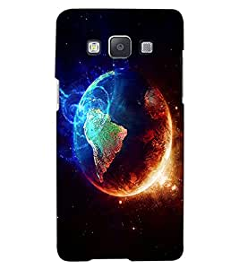 ColourCraft Fire and Ice Galaxy Design Back Case Cover for SAMSUNG GALAXY A7