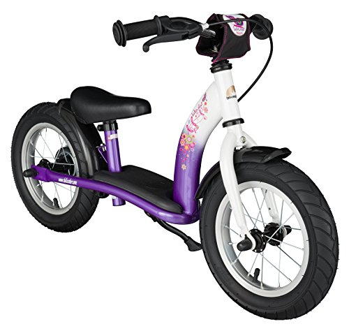 BIKESTAR® 30.5cm (12 pouces) Vélo Draisienne pour enfants ? Edition Classic ? Couleur Lilas & Blanc