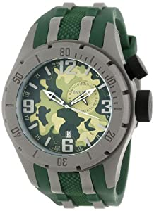 Invicta Men's 10017 Coalition Forces Green Camouflage Dial Green Polyurethane Watch at Sears.com