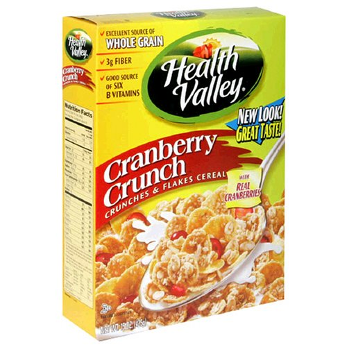 Buy Health Valley Flakes, Cranberry Crunch, 15-Ounce Boxes (Pack of 6) (Health Valley, Health & Personal Care, Products, Food & Snacks, Breakfast Foods, Cereals)