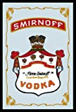 Empire 552082 Printed Mirror Picture with Wood-Effect Plastic Frame Featuring Smirnoff Vodka Design 20 x 30 cm
