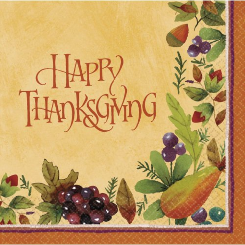 Thanksgiving Medley - Dinner Napkins Party Accessory front-511265