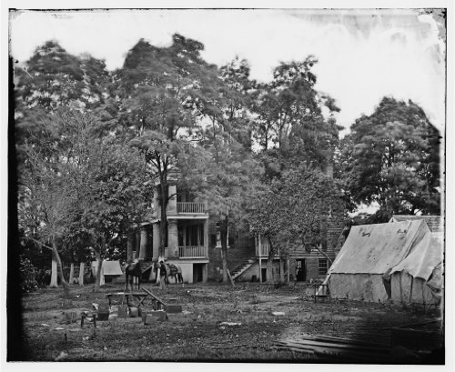 Fairfax Court House, Va. House used as a headquarters by Gen. G. B. McClellan and Gen. P. G. T. Beauregard poster print of an authentic Civil War photograph. WHOLESALE package of 25 posters.