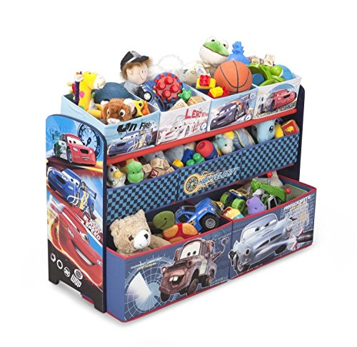 Cars Deluxe Multi Bin Toy Organizer, Kids Bedroom Childrens Play Toys Storage (Cars Deluxe Toy Organizer compare prices)