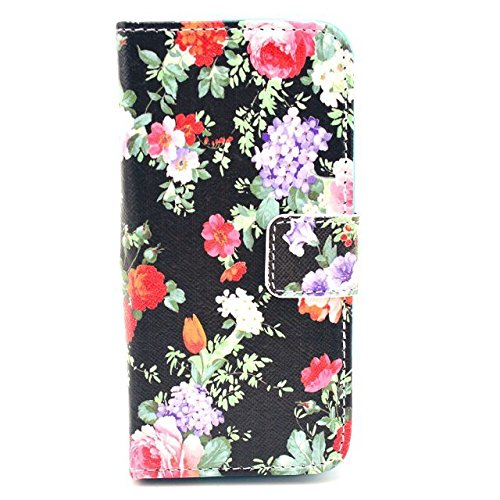 Luv You Iphone 5 5S 5G Case,Peony Print Series Style Lv-Yo Design Style Beautiful High Quality Luxury Premium Pu Leather Feature Flip Magnet Wallet Stand Smart Case Cover Protective With Id Credit Card Holder Slots Cute Tpu Case Fit For Apple Iphone Veriz front-496359
